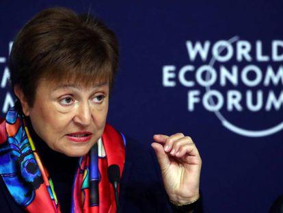 Kristalina Georgieva, diretora do FMI,  em Davos.