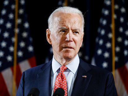 O candidato democrata, Joe Biden, em um evento em 12 de março.