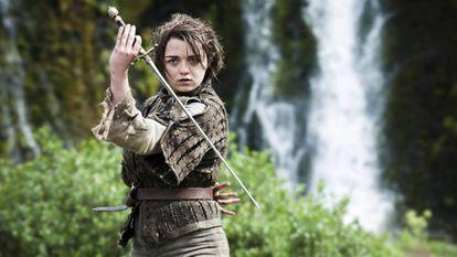 Maisie Williams em uma cena de 'Game of Thrones'.