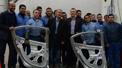 Mauricio Macri em maio, durante visita a uma fábrica de autopeças na província de Córdoba