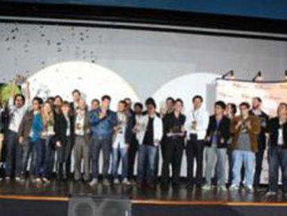 Jovens empreendedores em Bogotá.