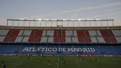 O estádio Vicente Calderón.