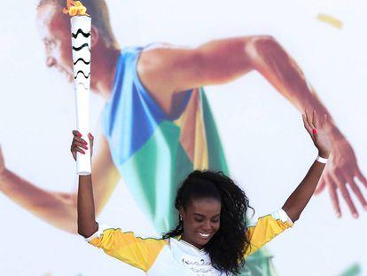 A jogadora de vôlei, Fabiana Claudino.