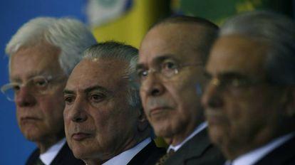 Moreira Franco, Temer e Padilha.