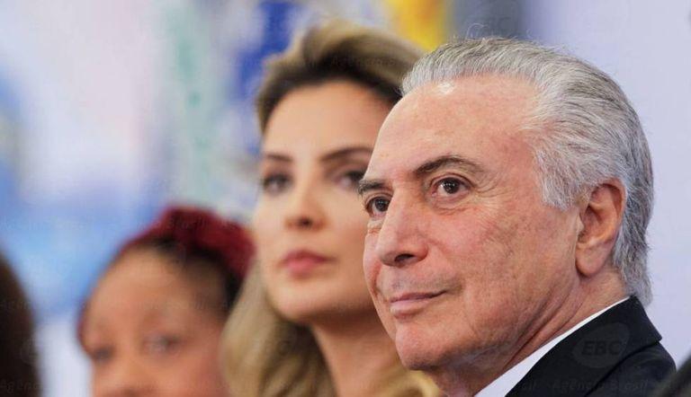 Michel Temer com a mulher Marcela, no Rio.
