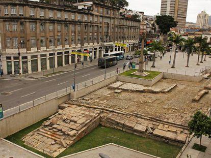 Cais do Valongo após as obras.