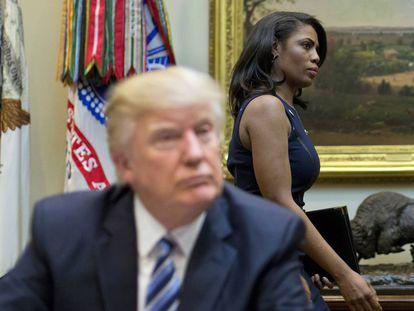 Trump e Newman, num ato na Casa Branca em março de 2017.