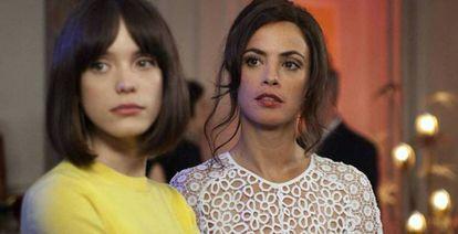 Bérénice Bejo e Stacy Martin em 'O Formidável'