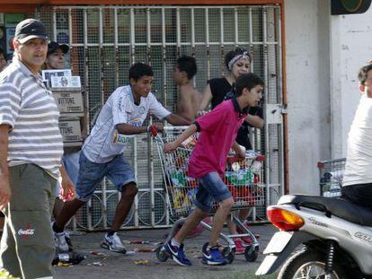 Assalto em Córdoba, nesta terça-feira.