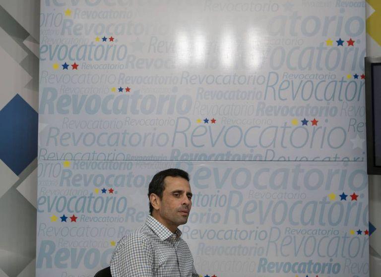 Henrique Capriles em Caracas.