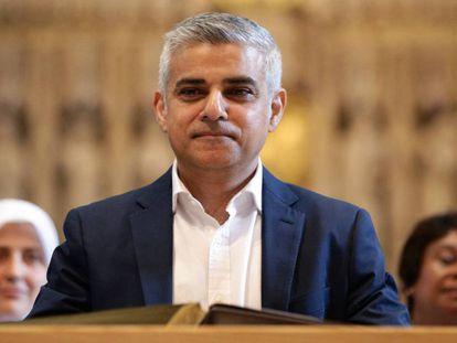 O prefeito de Londres, Sadiq Khan.