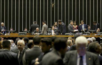 Sessão da Câmara dos Deputados, em junho deste ano.