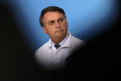 O presidente Jair Bolsonaro no último dia 12, no Palácio do Planalto.