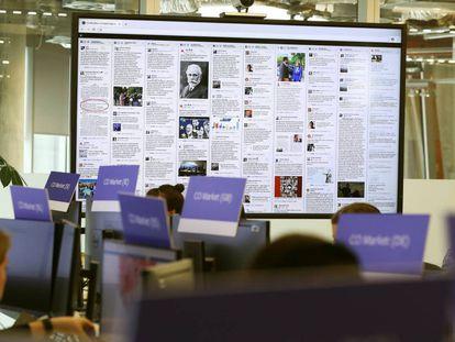 A sede de Facebook em Dublín, nesta quinta-feira.