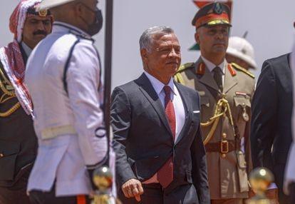 O rei Abdalá II da Jordânia, em uma visita oficial ao Iraque em junho.