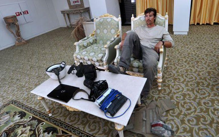 O jornalista James Foley em Sirte, Líbia, em setembro de 2011.