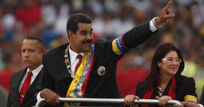 Nicolás Maduro e Cilia Flores.