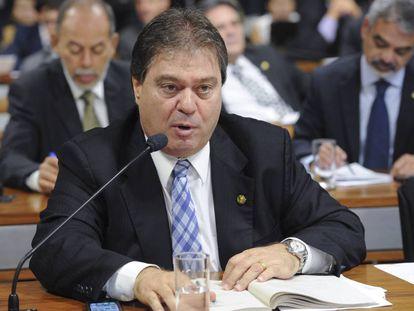 O ex-senador Gim Argello (PTB-DF), em foto de 2012 na CCJ do Senado.