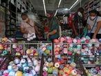 People shop at a store amid the coronavirus disease (COVID-19) outbreak, in Sao Paulo, Brazil, June 19, 2020. REUTERS/Amanda Perobelli