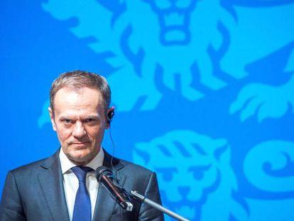 Donald Tusk nesta terça-feira na Estônia.