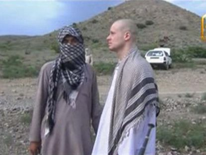 Fotograma do vídeo da libertação de Berghdal.