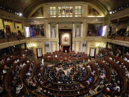 Salão do Congresso, durante homenagens do 4º centenário da morte de Cervantes.