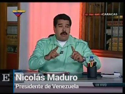 """Nicolás Maduro lume """"racista"""" ao presidente Mariano Rajoy."""