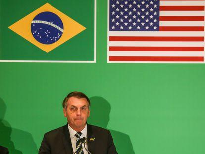 Jair Bolsonaro na Flórida no começo do ano.