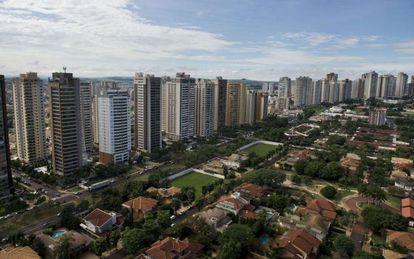 A cidade de Ribeirão Preto, a 336 km de São Paulo.