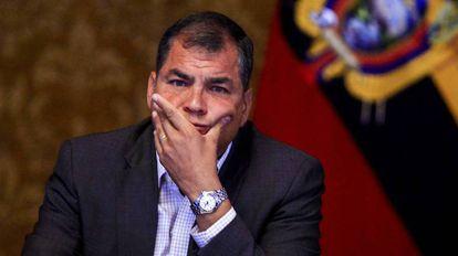 O ex-presidente do Equador Rafael Correia.