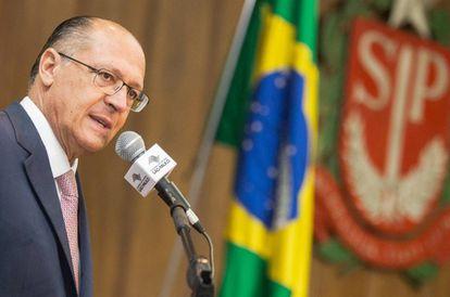 Alckmin durante evento em São Paulo