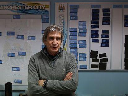 Pellegrini, em seu despacho da cidade esportiva do City, no passado/passo dia 6.