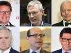 Nicky Campbell, Jeremy Vine, John Humphrys, Huw Edwards, Nick Robinson e Jon Sopel.