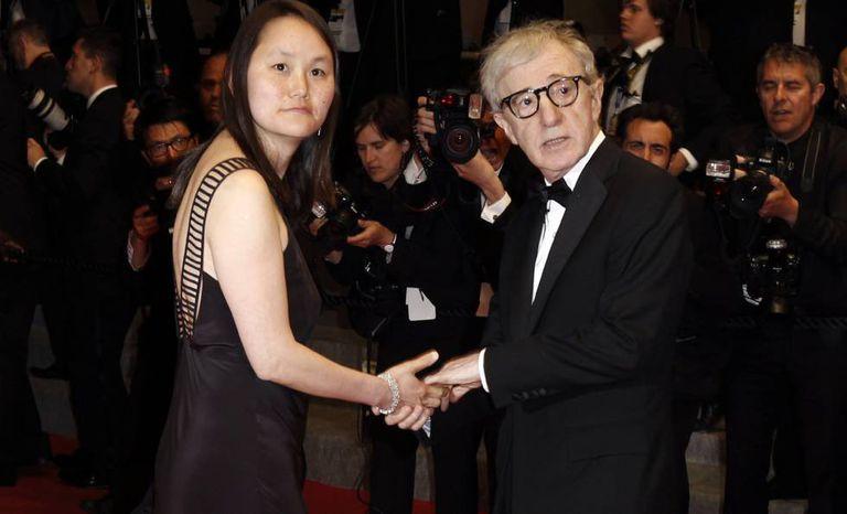 Woody Allen e Soon-Yi Previn em Cannes.