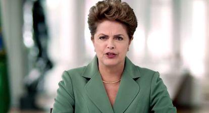 A presidenta Dilma Rousseff, em pronunciamento no dia da Mulher.
