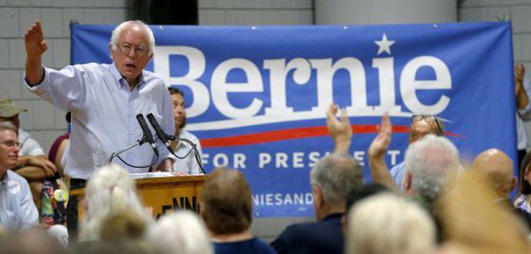Bernie Sanders durante um ato na semana passada em New Hampshire.
