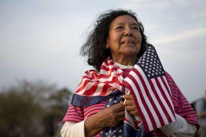 Uma norte-americana de origem boliviana, em foto de 2013.