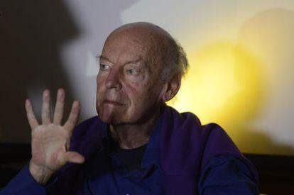 Galeano, na Bienal do Livro de Brasília. Fábio R. Pozzebom/Agência Brasil