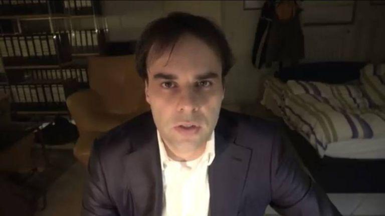 Imagem de um vídeo de Tobias R., suposto autor do ataque que deixou nove mortos em Hanau.