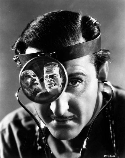 Basil Rathbone em 'O Filho de Frankenstein', de Rowland V. Lee