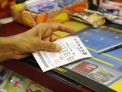 Um bilhete da loteria Powerball