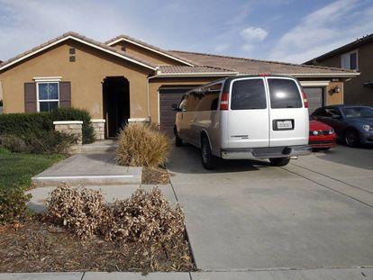 Casa onde a polícia encontrou os 12 irmãos desnutridos no domingo passado, em Perris, Califórnia.