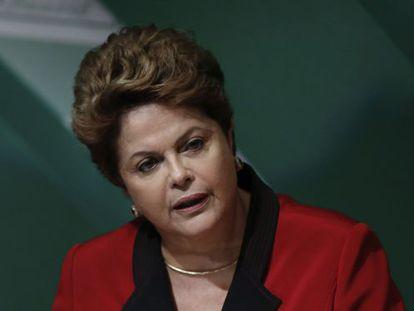 Dilma em um encontro de agricultores em Brasília no dia 6 de agosto.