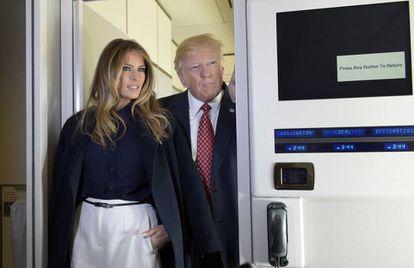 Donald e Melania Trump, nesta sexta-feira.