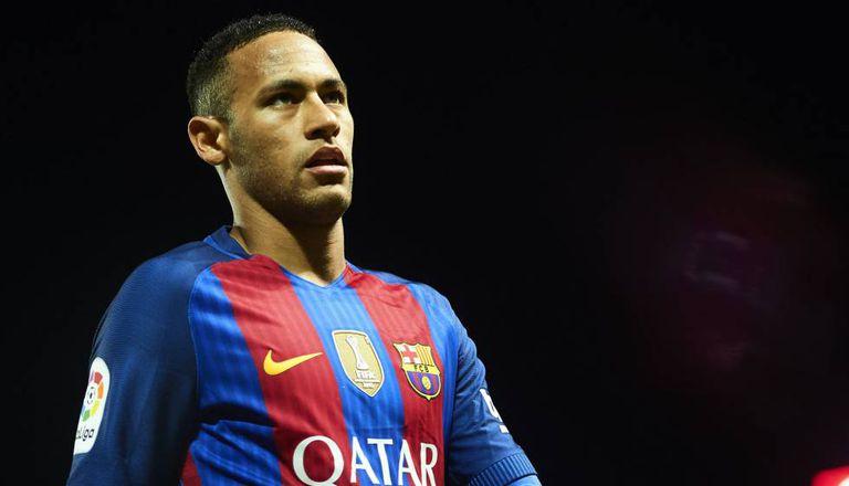 Neymar no jogo do domingo passado.