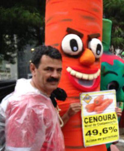 João Batista Franco, que milita contra agrotóxicos.