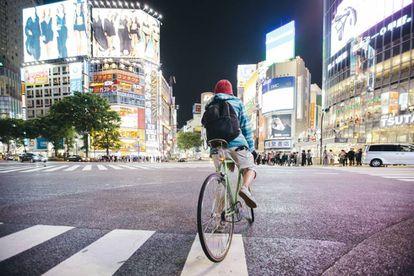 Um cruzamento em Shibuya, Tóquio