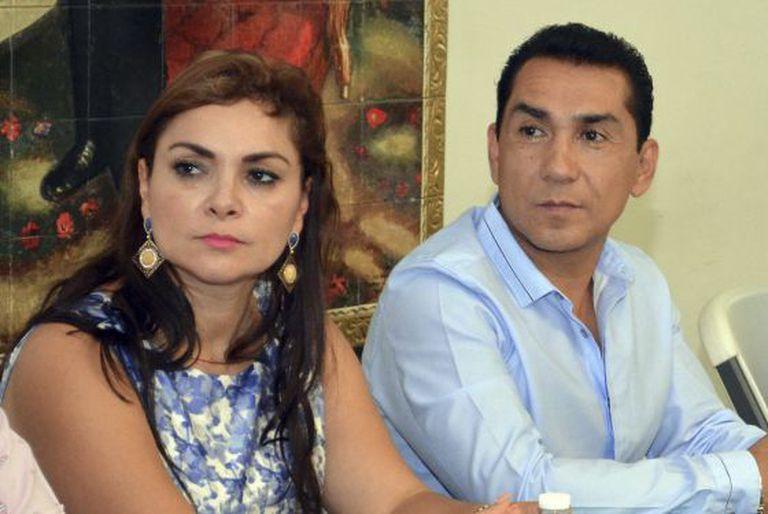 O prefeito de Iguala, José Luis Abarca, e sua mulher.