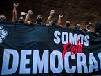 Torcedores se uniram na Paulista em ato pela democracia.