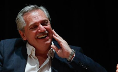 Alberto Fernández na sexta-feira, durante uma conferência sobre o papel da política na América Latina, realizada em uma universidade argentina.
